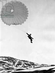 Norwegian Campaign: Battle of Narvik, 1940 (b/w photo)