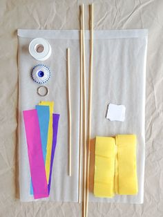 DIY Japanese Kite for Kids - What You Need