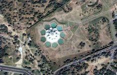 Baha'i Lotus Temple, Delhi, from Google Earth