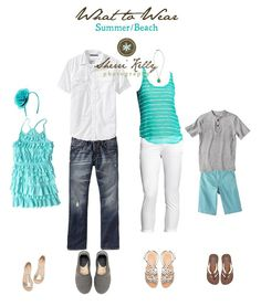 What to Wear - Beach Photo Session...  I love this blue/green color!