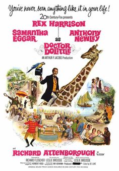 doctor movie posters | DOCTOR DOLITTLE (1967)