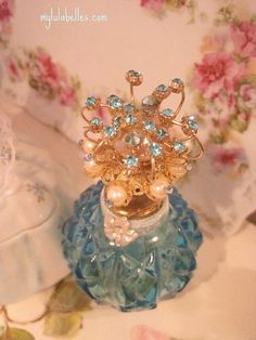 Vintage jewel perfume bottle
