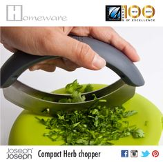 Just pinned: Compact Herb chopper - Joseph Joseph from UK - Non slip chopping board & cutter in one - Double bladed cutter - Green - BD Joseph Joseph, Cool Gadgets, Chopper, New Kitchen, Cookware, Kitchenware, Meal Prep, Compact, Herbs