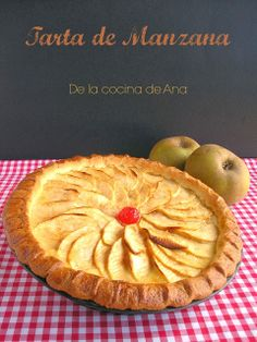 Tarta de Manzana, (Receta de mi Madre) Flan, Sweet Recipes, Pie, Cupcakes, Sweets, Desserts, Deserts, Cooking, Apple Cakes