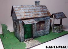 PAPERMAU: The Old Stone House With Well Paper Model - by PapermauDownload Now! - Construction Report Part 01...Many, many !