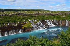 #Iceland is full of #waterfalls in all sizes & shapes. Here is a list of the biggest, highest & most unique ones of the #WaterfallsOfIceland. #WaterfallsInIceland #IcelandicWaterfalls #Hraunfossar