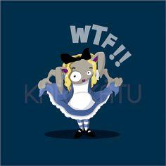 Conejo transformado en Alicia - Camisetas con este y otros diseños en Karakatu.com