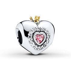 Pandora Charm Princess Heart Sterling Silver/14K Gold
