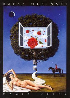 Magic of the Opera / Magia opery Original Polish exhibition poster designer: Rafal Olbinski year: 2007
