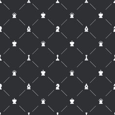 Endpaper pattern with chess icons by Evgeniy on @creativework247
