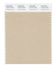 Pantone Smart Swatch 13-1012 Frosted Almond.As Light Summer wear far from your face. Tip for suits, cardigans, blazers, skirts, troussers, bags...