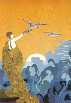 1919 - Erté (Romain de Tirtoff) - Wings of Victory. Cover of Harper's Bazaar.