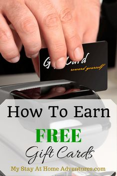 Learn how to earn free gift cards the right way.  No schemes.  Myself and many others use this method without hassle. Is a fun way to earn gift cards doing the things you love.
