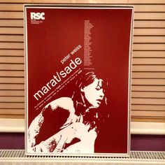 Marat Sade by Peter Weiss At the Royal Shakespeare Theatre starring Glenda Jackson, Ian Richardson, Michael Williams among many in the Royal Shakespeare Company