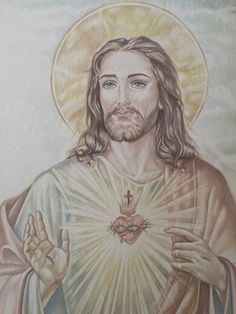 """"""" Sacro Cuore di Gesu"""" Pietra lavica e ceramica Decorazione a mano By Rondinellart"""