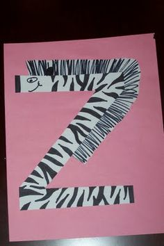 Z is for zebra and Z is for zipper alphabet crafts