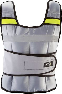 Pure Fitness Adjustable Weighted Exercise/Training Vest, One Size Fits Most: 20 Pounds, Grey/Lime. Weights are included with 16 sand-filled 0.88 lbs. weights that are easy to insert or remove, making it easy to increase or decrease the weight of the vest. Fully adjustable closures enable vest to fit most adults comfortably, while maintaining a snug and secure fit to avoid chafing. Flexible enough for use with a variety of different exercises, including: jogging, hiking, pull-ups, push-ups...