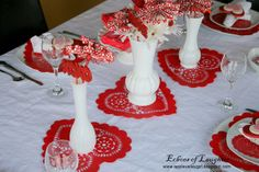 Valentine's Tablescape. A little over the top in places, but I like parts of it.