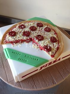 Homemade cakes for all occassions. Based in Maidstone I can provide bespoke wedding cakes, cup cakes, celebration cakes and cake pops for Kent and the Southeast Pizza Birthday Cake, Candy Birthday Cakes, Birthday Cake For Husband, Pizza Cake, Crazy Cakes, Fancy Cakes, Unique Cakes, Creative Cakes, Fondant Cakes
