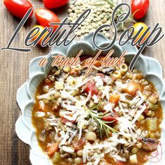 Are you looking for a delicious recipe for a yummy lentil soup? If you answered yes...you are in the right place! Lentils ='s yummy and LUCK!!!!