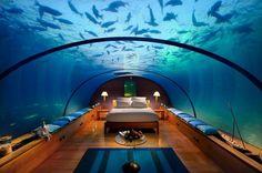 Este é o hotel Conrad Rangali Island Resort, nas Ilhas Maldivas. #Travel #Hotel #Maldives