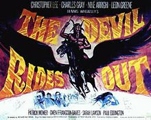 The Devil Rides Out a/k/a The Devil's Bride Directed by Terence Fisher Starring Christopher Lee, Charles Gray & Paul Eddington Sci Fi Horror Movies, Horror Movie Posters, Film Posters, American Horror Movie, October Movies, Hammer Films, Gothic Horror, Vintage Horror, Movies