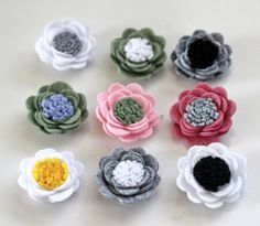 1 Felt Daisy flower lapel pin Mens lapel flower by Nevestica, $13.00