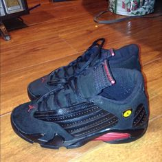 Air Jordan 14s Lastshot Great condition. Size 4.5y WILLING TO TRADE Jordan Shoes Athletic Shoes