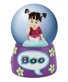 Loving this Boo Water Globe on #zulily! #zulilyfinds             My Little girl looked and acted so muck like little Boo