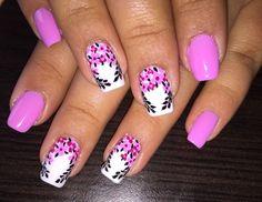 Flower Nails, Nail Nail, Gorgeous Nails, Dali, Nail Designs, Make Up, Top, Beauty, Fingernails Painted
