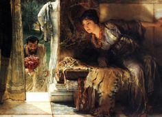 """Welcome Footsteps"", 1883, by Sir Lawrence Alma-Tadema (Dutch, 1836-1912)."