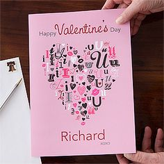 Love the design on this Personalized Valentine's Day Card from PersonalizationMall! They have a bunch of different designs and they're printed on these cool, oversized cards - perfect for Valentine's Day! You get to personalize the front and any message inside ... this is on sale now for only $4.45!