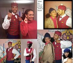 Prince Akeem and Lisa McDowell from Coming to America.  Best Halloween costume EVER!