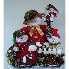 Felt Christmas Decorations, Snowman Decorations, Snowman Crafts, Christmas Snowman, Christmas Crafts, Christmas Ornaments, Holiday Decor, Needle Felting, Cocoa