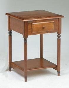 """Accent Table by OSP Designs. $122.20. Dimensions: 27.5"""" H x 19"""" W x 19.5"""" D. OSP Designs Accent TableAccent TableTimeless design compliments most any decorBeautiful Antique Cherry finish on select veneers and solidsHandy storage drawer for accessoriesLower shelf for additional storageDistinctive Multi-Step Finish ProcessEasy to Assemble Dimensions: 19.5"""" x 19.5"""" x 27.5"""""""