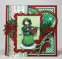 Cards made by Wybrich Christmas Cards, Christmas Ornaments, 3d Cards, Marianne Design, Origami, Daisy, Holiday Decor, Handmade, Vintage