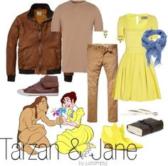 I need a Guy to do this with me... I would die of happiness. LOL. Tarzan & Jane inspired outfit.  ☻☺♥