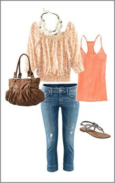 Nice summer outfit I enjoy this coral Color now Cool Summer Outfits, Spring Outfits, Cool Outfits, Casual Outfits, Fashion Outfits, Love Fashion, Womens Fashion, Spring Summer Fashion, What To Wear