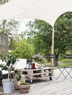 𝙴𝚝𝚝 𝚔𝚕𝚊𝚜𝚜𝚒𝚜𝚔𝚝 𝚕𝚊𝚗𝚝𝚔ö𝚔 ä𝚛 𝚑𝚓ä𝚛𝚝𝚊𝚝 𝚒 𝚍𝚎𝚝 𝚑ä𝚛 𝚏𝚒𝚗𝚊 𝚑𝚎𝚖𝚖𝚎𝚝 Outdoor Spaces, Outdoor Decor, Outdoor Furniture Sets, Farmhouse, Exterior, Patio, Table Decorations, Places, Inspiration