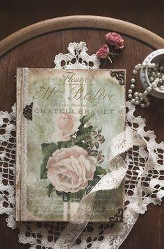 Journal de roses Vintage journal notebook par BethStyleBook sur Etsy