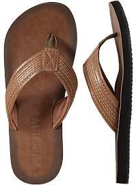 e7d7cc901d35 Men s Faux-Leather Sandals Old Navy Men
