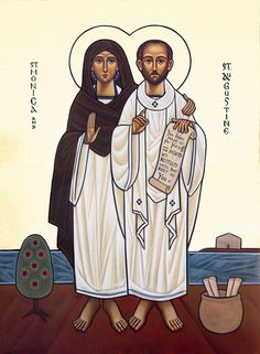 Lives Of The Saints, New Saints, Early Christian, Christian Art, St Monica, Augustine Of Hippo, Christian Pictures, Russian Orthodox, Religious Icons