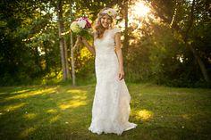 edmonton bohemian/country backyard wedding. {amy + matt}