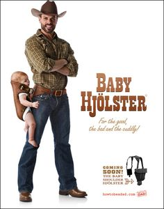 Laugh of the day: New cowboy baby carrier! Cowboy Baby, Chuck Norris, Laugh Of The Day, Baby Bjorn, Friday Humor, Baby Center, Baby Wearing, Just In Case, I Laughed