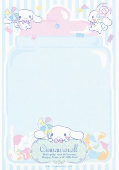 Sanrio Cinnamoroll Memo w/ Stickers My Melody Wallpaper, Sanrio Wallpaper, Kawaii Wallpaper, Cute Backgrounds, Cute Wallpapers, Memo Notepad, Cute Stationary, Kawaii Room, Cute Notes