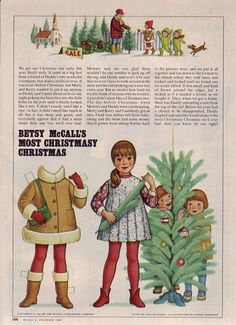 Betsy McCall's most Christmasy Christmas....December 1982