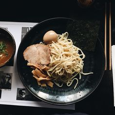 Curry Tsukemen from two days ago  #latergram #mugenramen #tsukemen #tsukemenramen #ramen #melbourne #food #foodgasm #foodpics #foodporn #yum #instafood #instagood #foodstagram by theragingpiglet