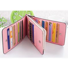 Hot-sale Women Microfiber Leather Multi-Card Slots Wallet Card Holders Phone Bag - NewChic Mobile.