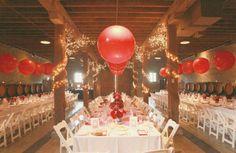 Dica de ornamentação simples e barata vermelha e branca