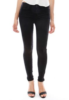 Liberty Side Tuck Super Skinny Jean in Graphite - designed by J Brand Review Buy Now